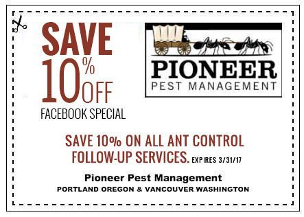 Pioneer Pest Management Ant Control Facebook Coupon